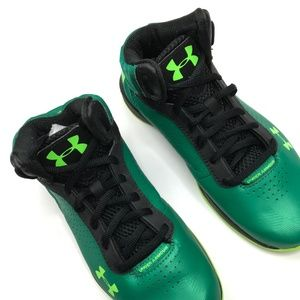 Under Armour Shoes - Under Armor high tops kids boys green yellow
